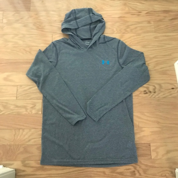Mens Under Armour Gray Heatgear Loose Hoodie XS 1a4f63001aec